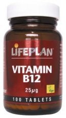 Lifeplan Vitamin B12 25Ug 30 Tablets