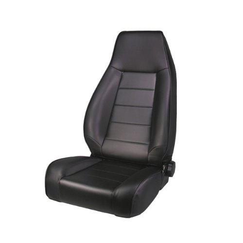 Rugged Ridge 13402.15 Factory Style Black Front Replacement Denim Seat With Recliner front-519499