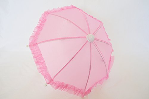 PINK DOLL UMBRELLA FOR AMERICAN GIRL DOLLS