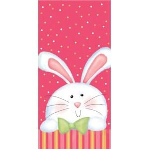 Cheerful Easter Bunny Cello Bags 20 Per Pack