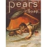 L1867 LARGE PEARS SOAP METAL ADVERTISING WALL SIGN RETRO ART