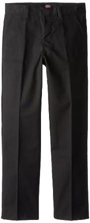 Dickies 56562BK Boys Plain Front Pants 10 S black