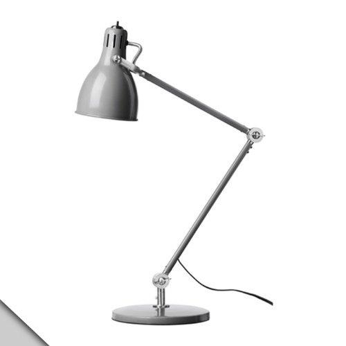 Ikea - Aröd Work Lamp, Gray + E26 Bulb