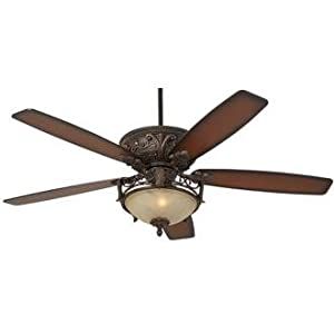 "60"" Casa Montego™ Scavo Glass Light Ceiling Fan - - Amazon.com"