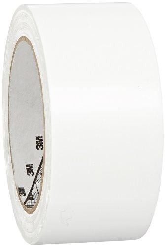 3M General Purpose Vinyl Tape 764 White, 2 in x 36 yd 5.0 mil (Pack of 1)