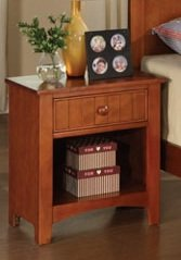 Beautiful Night Stand In Oak Finish Pds F40232 front-1062671