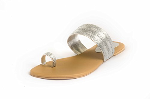 Route Flat Heel Ladies Synthetic Chappals Fitted With Beads And Stones - [YH-H-C-007] - B00N2LB5J4