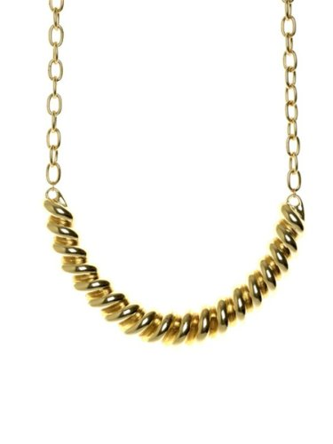 Belle Noel By Kim Kardashian Ram's Horn Collar Necklace - Gold