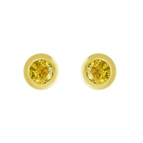 14k Gold Baby Earrings with CZ