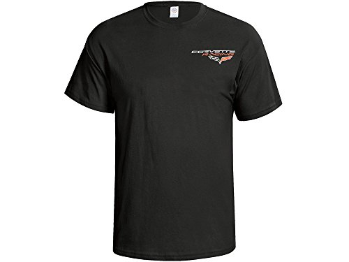 2004-2013 Corvette T-Shirt C6 C6R Racing Reflections Black