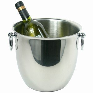 Elia Deluxe Wine & Champagne Cooler 5.8ltr | Stainless Steel Champagne Bucket from Elia
