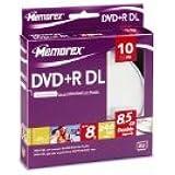 8x DVD+R DL 10 Pack