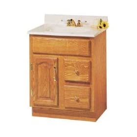 Foremost Groups, Inc. 24X18 Oak Bath Vanity Dva-2418D Vanity Ready-To-Assemble Cabinets