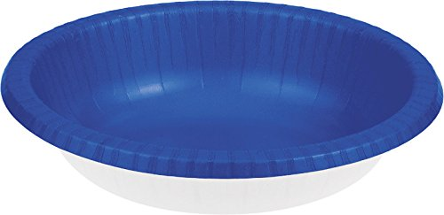 Creative Converting Touch of Color 20 Count Paper Bowl, 20 oz, Cobalt