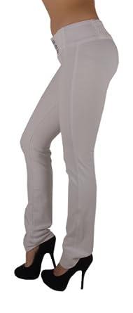 3018 - Brazilian Style Butt Lift, Levanta Cola, Fashion Moleton, Boot Leg, in White Size XS