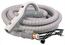 Central Vacuum Cleaner Genuine Style Replacement Hose Designed to Fit Aerus Electrolux 1580, 1590, Lux Centralux Complete with Direct Connect and Pigtail Cord Gray (Central Vacuum Hose With Pigtail compare prices)