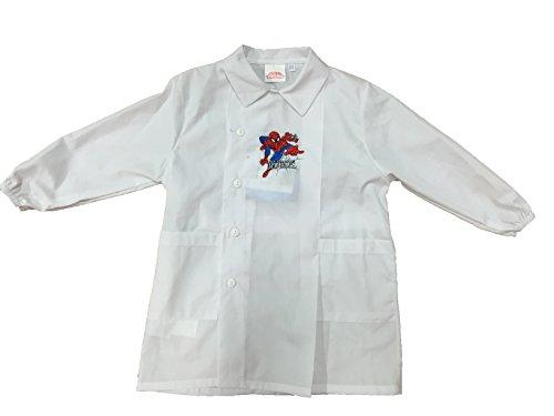 grembiule-grembiulino-bianco-spiderman-marvel-scuola-asilo-materna-elementare-tg55