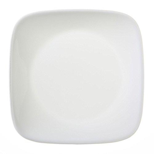Corelle Square Round 6-1/2-inch Plate, Pure White, Value Pack Of 6 (Vitrelle Corelle compare prices)