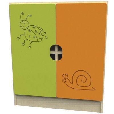 Sideboard Novo Farbe: Grün / Orange