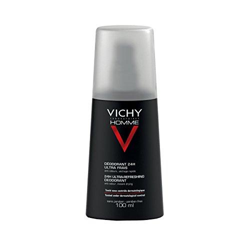 Homme Deodorante ultra fresco 24H di Vichy, Deodorante Uomo - Flacone spray 100 ml