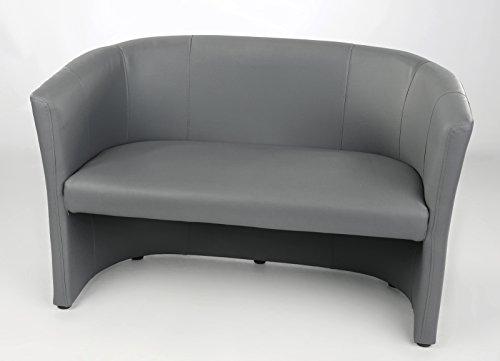 Design-Bank-2-sitzer-Cocktailsessel-Sessel-Clubsessel-Loungesessel-Club-Mbel-Brosessel-Praxismbel-grau