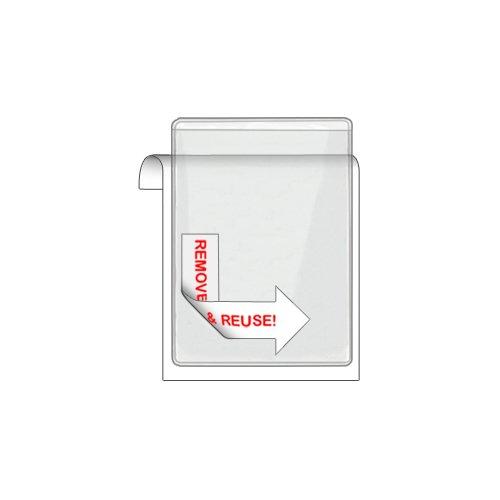 Storesmart® Remove & Reuse - 50 Peel & Stick Business Card Holders - Open Short Side - Vinyl Plastic (Psr222S50) front-587541