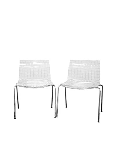 Baxton Studio Set Of 2 Obbligato Accent Chairs, Clear