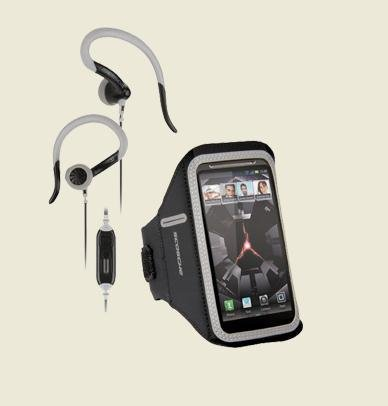 Scosche Fitness Bundle - Armband With Sports Earhook Headphone For Most Smartphones