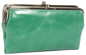 "c0a0561a1dd64c Hobo International Vintage Leather Lauren Double Frame Clutch Wallet - Jade  Wallets. """