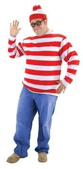 Where Is Waldo Costume Large Size