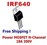 "5pcs of IRF640 ""IR"" Power MOSFET N-Channel 18A 200V - Free Shipping"