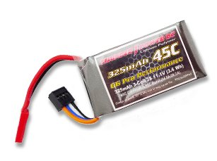 325mAh 3S 11.1V G6 Pro Performance 45C, JST