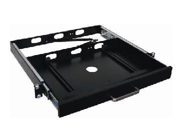 The Best Keyboard Drawer - Industrial 1U Universal Keyboard Drawer ; Metal Apperance With