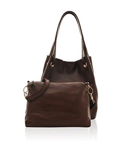 Chancebanda Women's Set of Two Handbags, Coffee