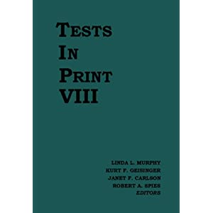 Tests in Print 8th Edition Cover