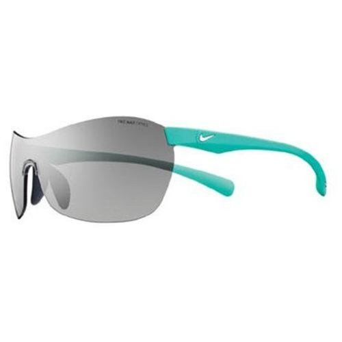 Nike Excellerate Sunglasses, Matte Atomic Teal, Grey with Silver Flash Lens