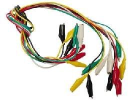 ワニ口クリップコードセット(10本セット)CM11