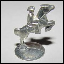 Man On Horse Genuine Monopoly Token - 1