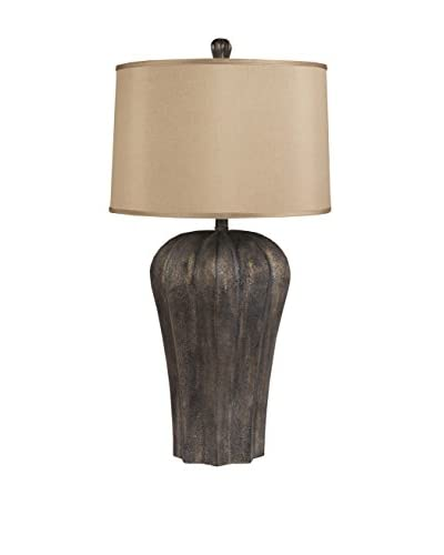Surya Bronze Table Lamp, Bronze/Copper Metallic