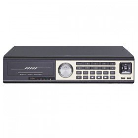 GV 24CH Realtime H.264 Network Security CCTV DVR Recorder Video Spot Out 8CH Audio(Black)