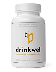 Drinkwel - The Multivitamin for People Who Drink (With Kudzu Flower, Milk Thistle, N-acetyl Cysteine)
