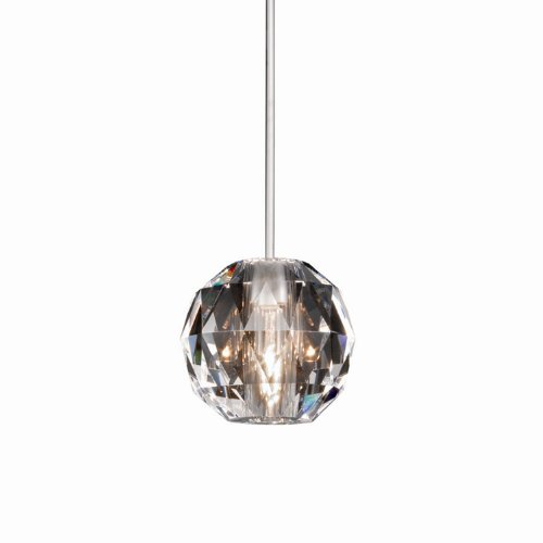 Wac Lighting Mp-930-Cl/Ch Polaris Collection 1-Light Monopoint Pendant, Chrome With Clear Crystal Shade