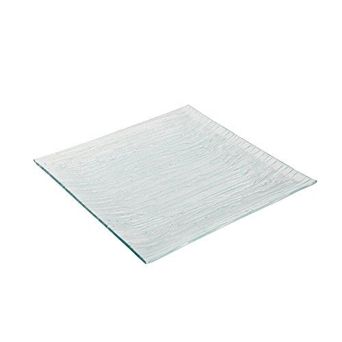 Delys-By-Verceral 508431 Lot de 6 Assiettes de Présentation Carrée Verre Blanc 29,5 x 29,5cm