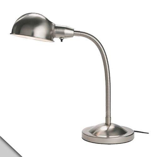 Ikea - Format Work Lamp, Nickel Plated + E26 Led Bulb