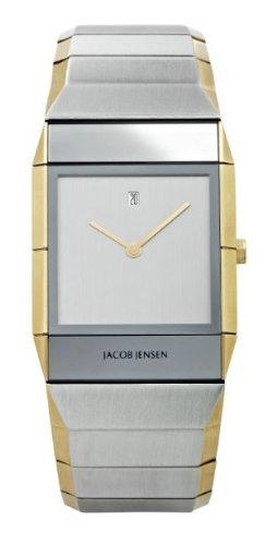 Jacob Jensen - 553 - Montre Homme - Quartz Analogique - Bracelet Acier Inoxydable Argent