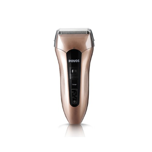 Powerful High Speed Moter Povos Shaver (Light Brown)