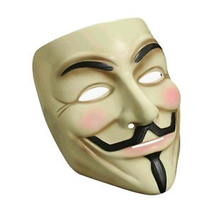 [V For Vendetta Costume Mask Guy Fawkes Official Licensed Anonymous Rubies 4418] (Jack Torrance Costume)