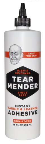 Tear Mender TG-16 Bish's Original Tear Mender Instant Fabric and Leather Adhesive, 16 oz Bottle (Leather Machine Company compare prices)