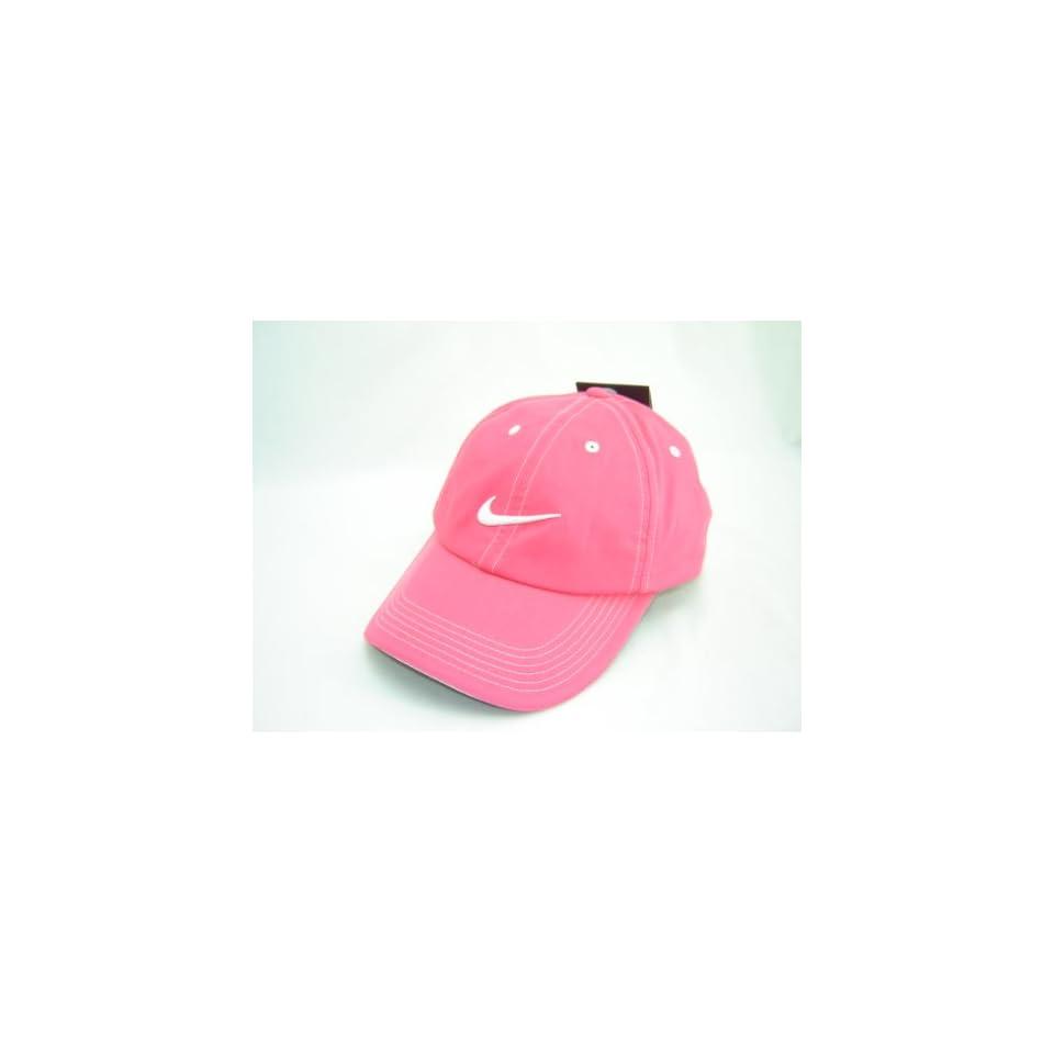 Nike Womens Dri Fit Golf Baseball Cap Hat Dark Pink White