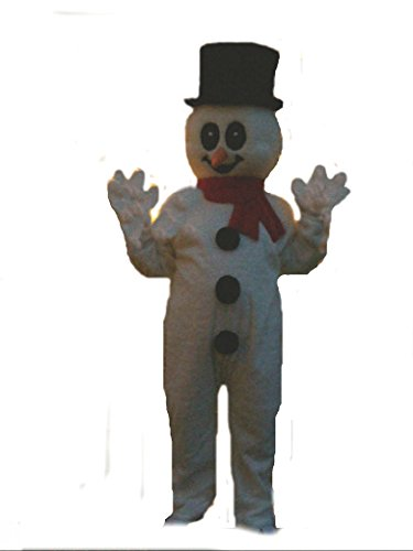 Mascots USA by CJs Huggables Custom Pro Low Cost Frosty Snowman Mascot Costume